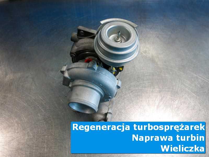 Turbosprężarka przed wymianą w laboratorium w Wieliczce