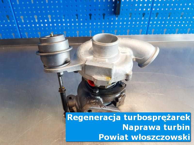 Turbina po czyszczeniu na stole w laboratorium, powiat włoszczowski