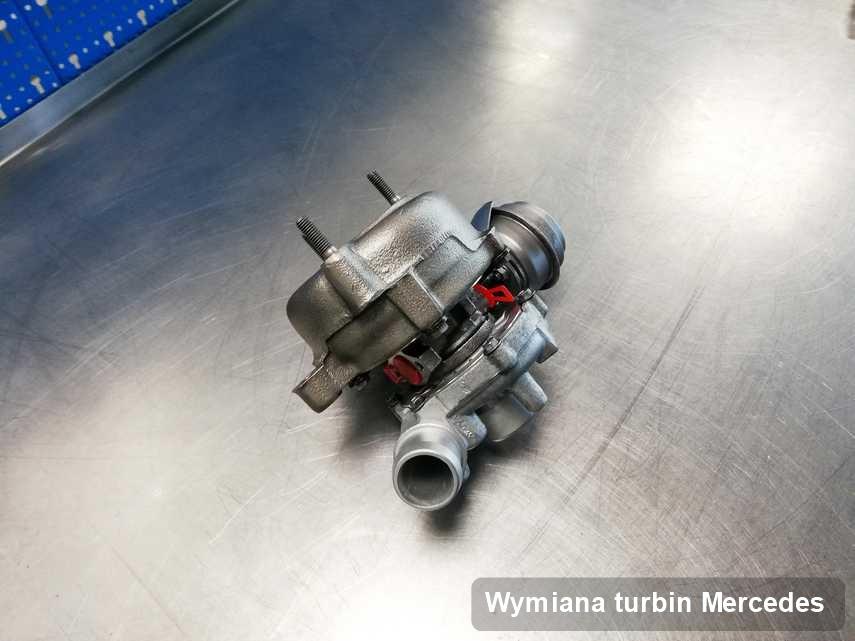 Turbina do auta osobowego spod znaku Mercedes naprawiona w warsztacie gdzie przeprowadza się  usługę Wymiana turbin