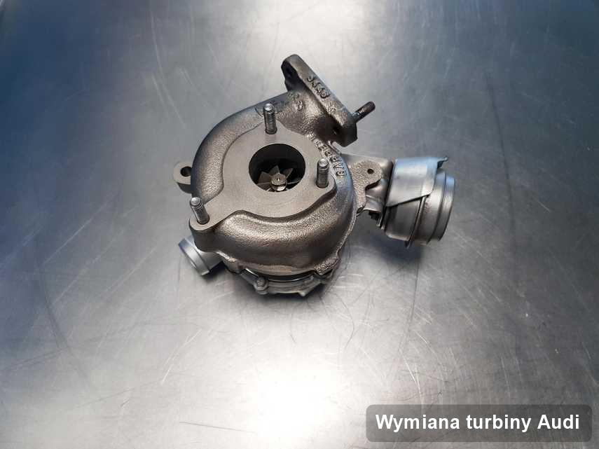 Turbosprężarka do auta osobowego firmy Audi po remoncie w warsztacie gdzie przeprowadza się  usługę Wymiana turbiny