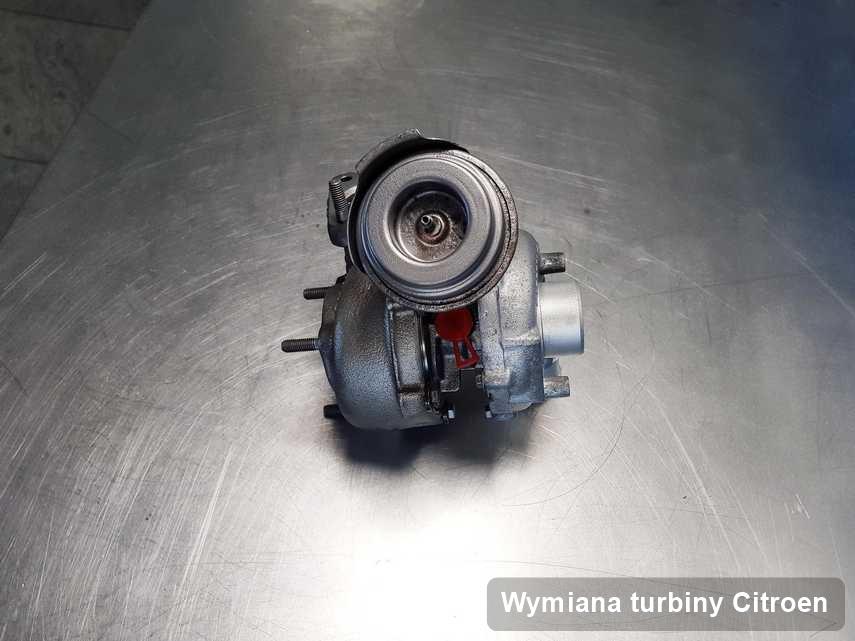Turbina do auta spod znaku Citroen po naprawie w laboratorium gdzie zleca się serwis Wymiana turbiny