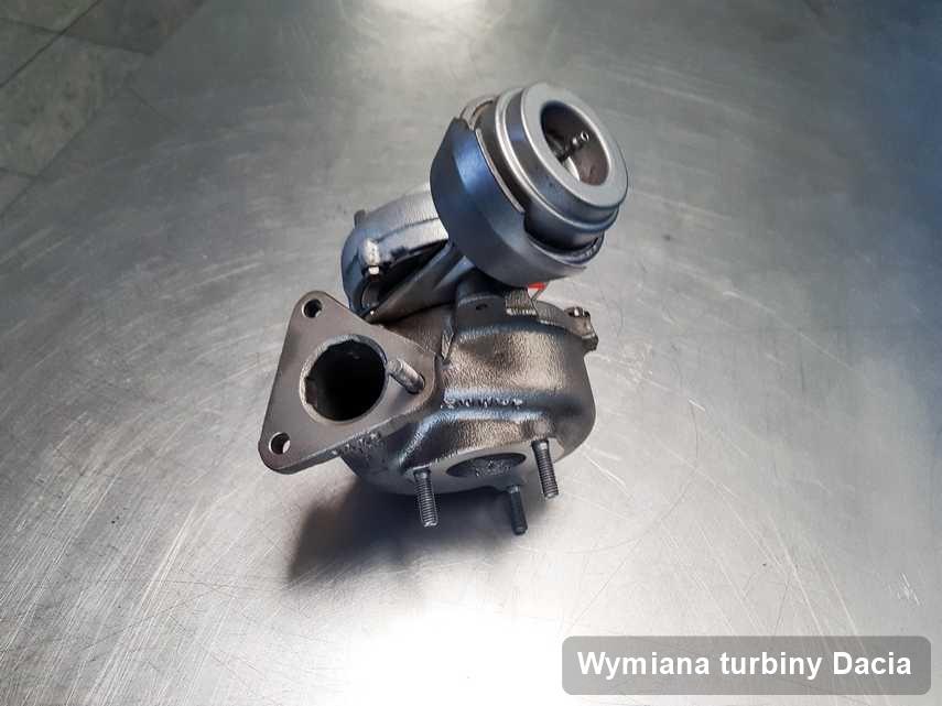 Turbosprężarka do samochodu marki Dacia zregenerowana w firmie gdzie realizuje się usługę Wymiana turbiny