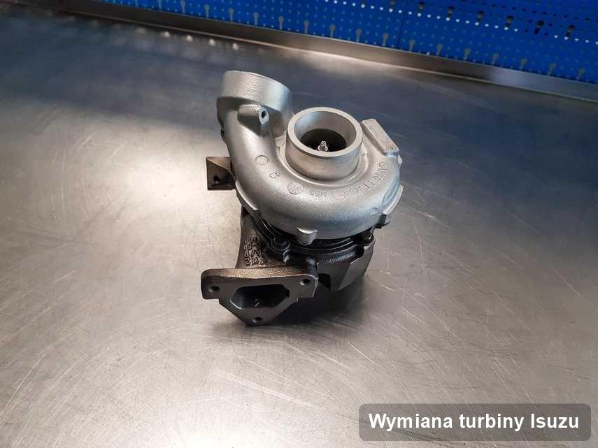 Turbosprężarka do samochodu osobowego producenta Isuzu wyremontowana w laboratorium gdzie zleca się usługę Wymiana turbiny