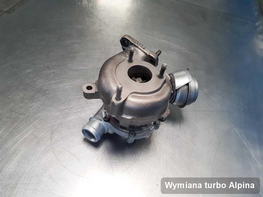 Turbina do diesla producenta Alpina po naprawie w przedsiębiorstwie gdzie wykonuje się serwis Wymiana turbo