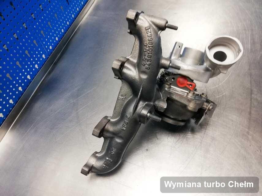 Turbosprężarka po realizacji usługi Wymiana turbo w serwisie w Chełmie o parametrach jak nowa przed spakowaniem