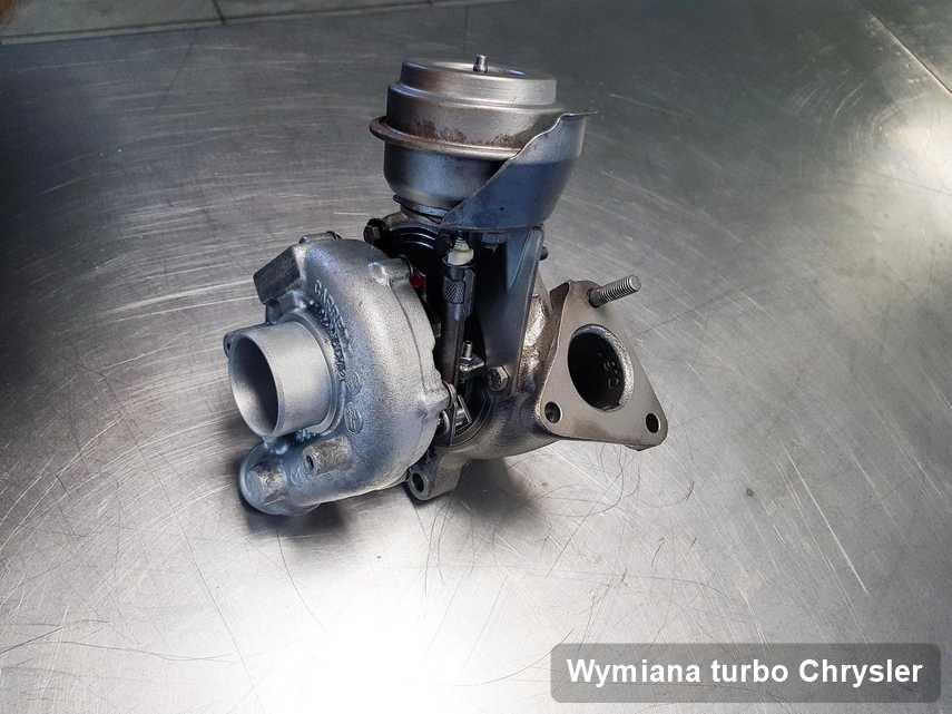 Turbina do diesla spod znaku Chrysler naprawiona w warsztacie gdzie realizuje się serwis Wymiana turbo