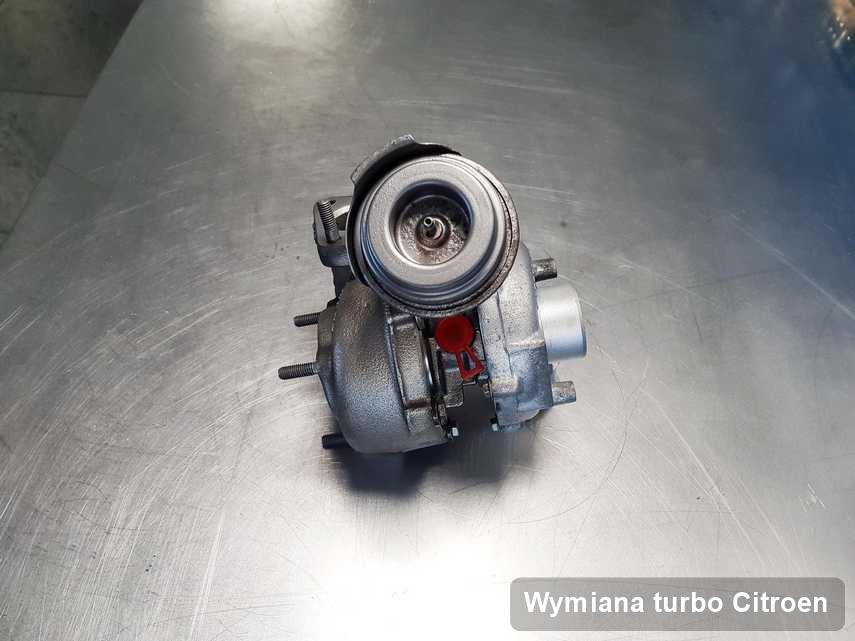 Turbina do samochodu producenta Citroen wyremontowana w pracowni gdzie wykonuje się usługę Wymiana turbo