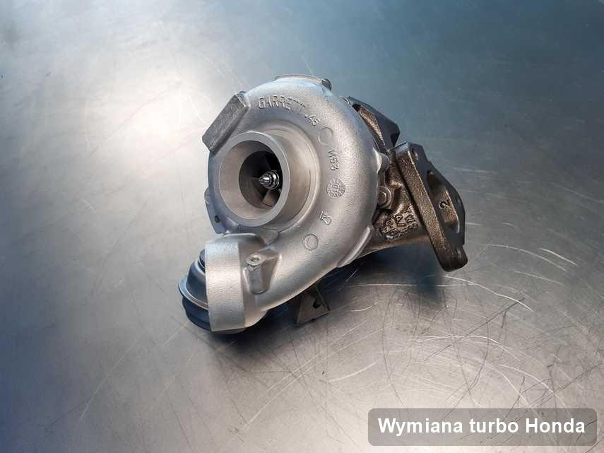 Turbosprężarka do samochodu marki Honda po remoncie w firmie gdzie przeprowadza się  usługę Wymiana turbo