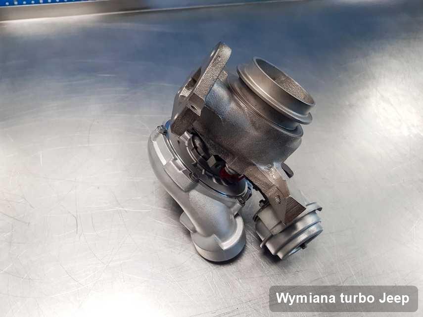 Turbosprężarka do samochodu osobowego spod znaku Jeep naprawiona w przedsiębiorstwie gdzie przeprowadza się  usługę Wymiana turbo
