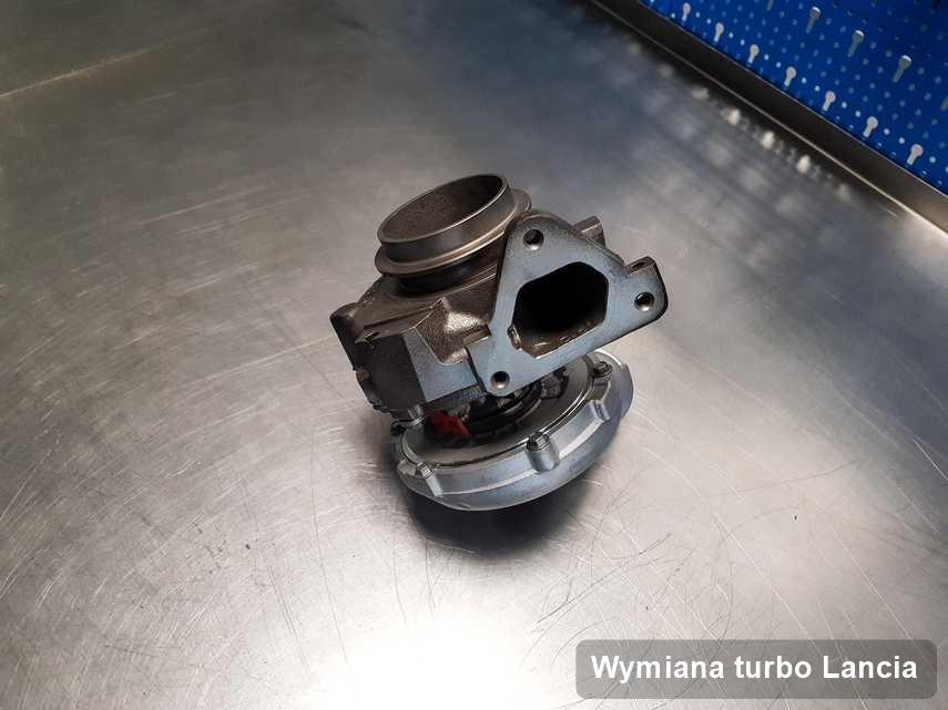 Turbina do auta marki Lancia zregenerowana w firmie gdzie zleca się usługę Wymiana turbo