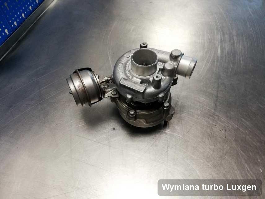 Turbina do auta osobowego z logo Luxgen naprawiona w warsztacie gdzie zleca się serwis Wymiana turbo