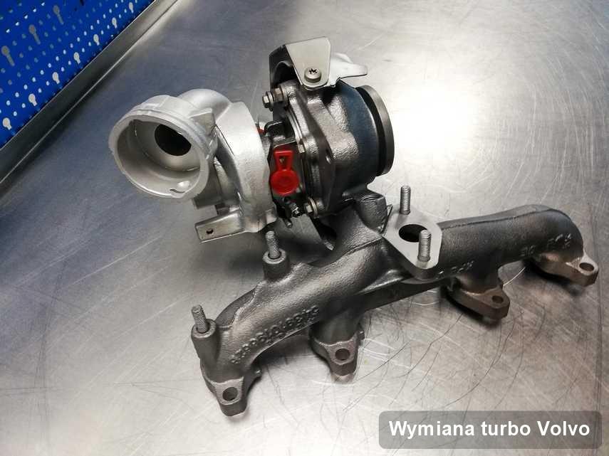 Turbosprężarka do osobówki spod znaku Volvo wyremontowana w warsztacie gdzie realizuje się serwis Wymiana turbo