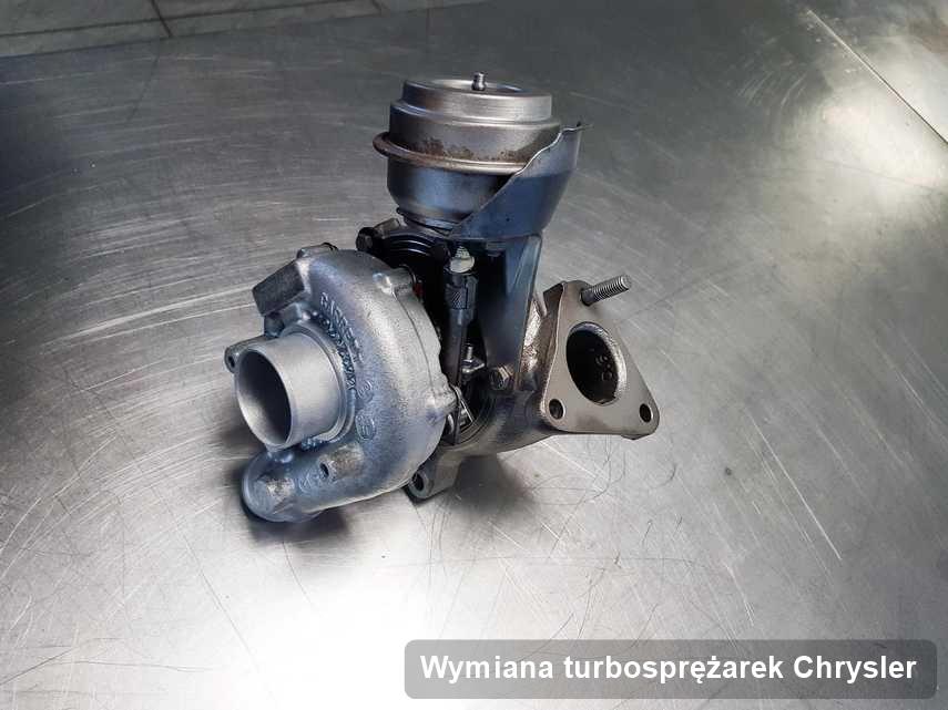 Turbina do samochodu osobowego marki Chrysler naprawiona w pracowni gdzie realizuje się serwis Wymiana turbosprężarek