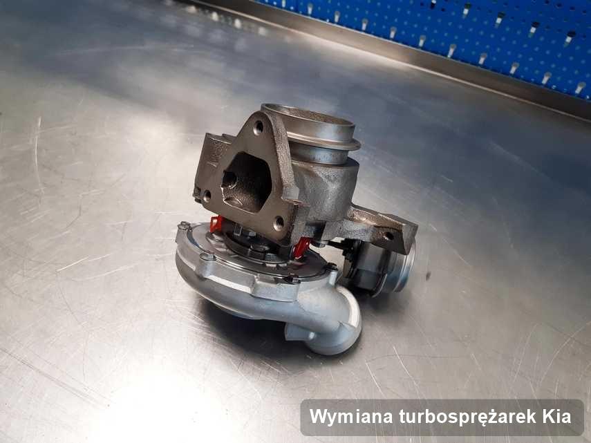 Turbina do samochodu producenta Kia po remoncie w pracowni gdzie zleca się serwis Wymiana turbosprężarek