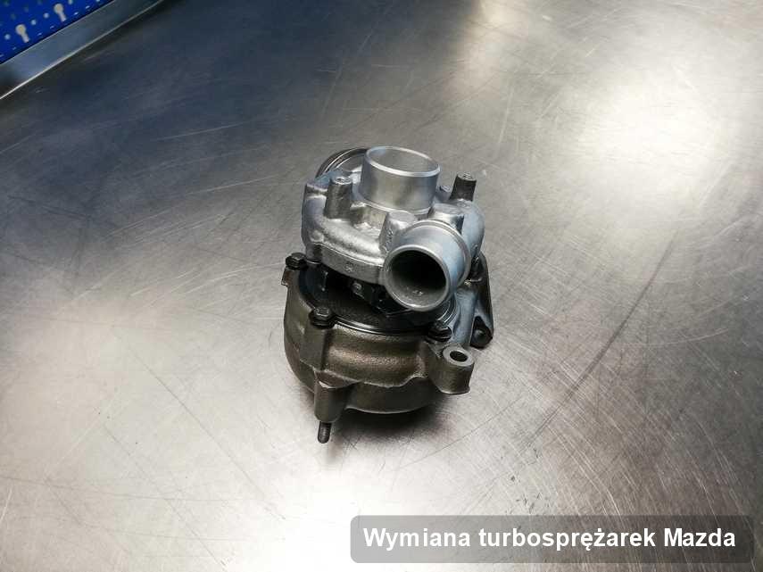 Turbosprężarka do samochodu spod znaku Mazda naprawiona w pracowni gdzie przeprowadza się  serwis Wymiana turbosprężarek