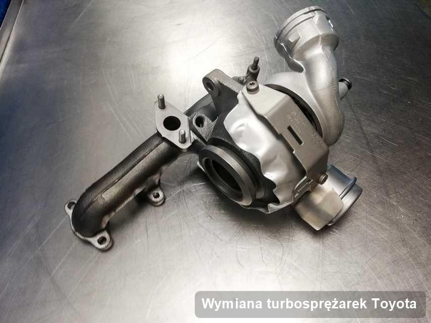 Turbosprężarka do diesla producenta Toyota po remoncie w firmie gdzie wykonuje się serwis Wymiana turbosprężarek