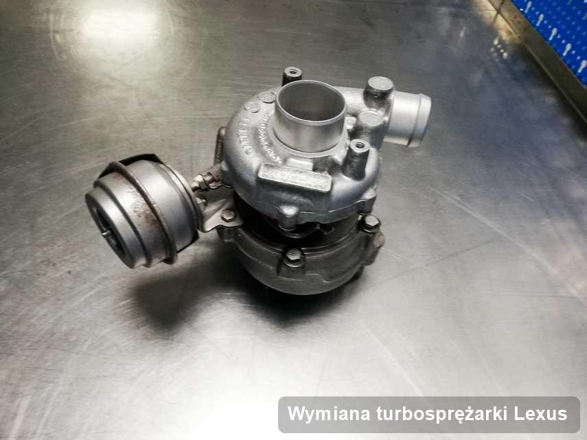 Turbosprężarka do samochodu spod znaku Lexus po naprawie w laboratorium gdzie zleca się serwis Wymiana turbosprężarki