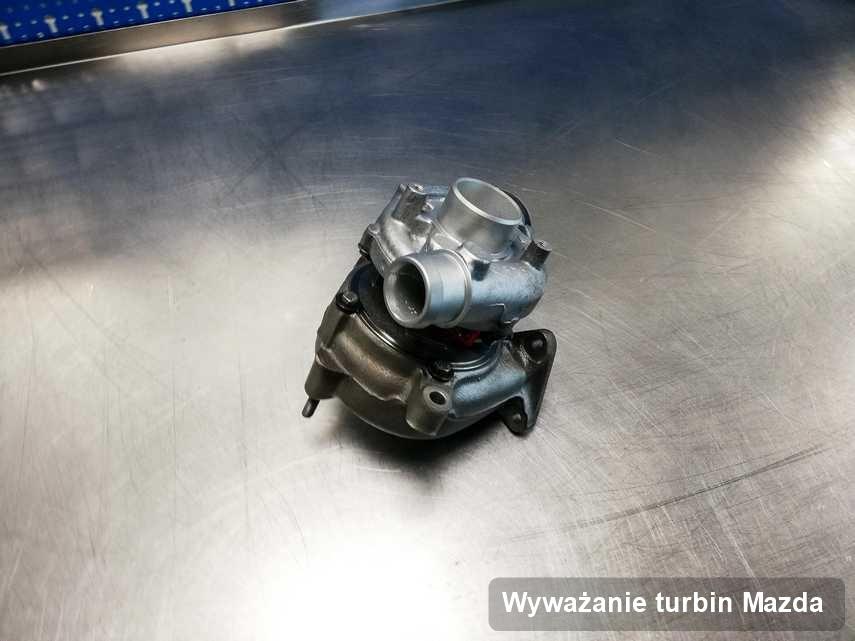 Turbina do auta osobowego marki Mazda naprawiona w przedsiębiorstwie gdzie wykonuje się serwis Wyważanie turbin