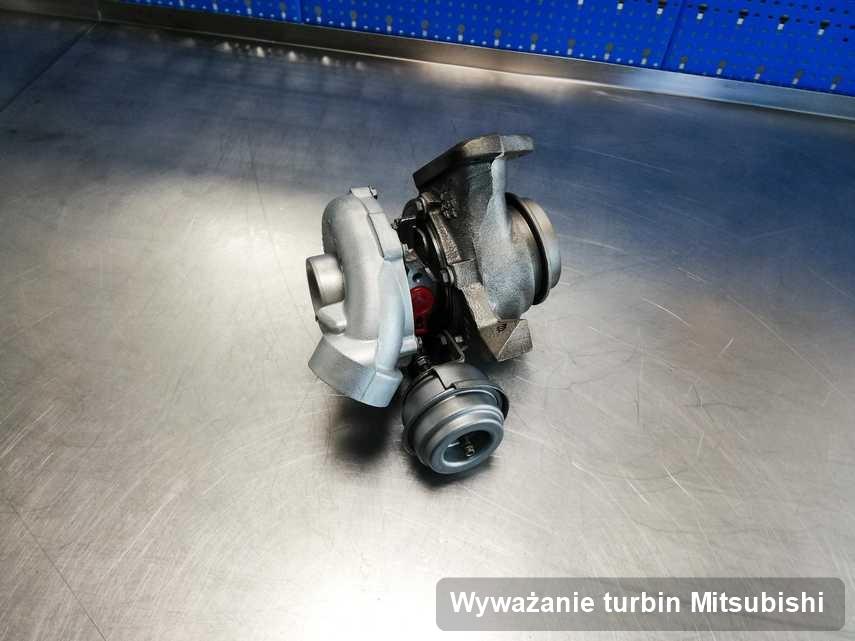 Turbina do auta osobowego sygnowane logiem Mitsubishi wyremontowana w warsztacie gdzie zleca się usługę Wyważanie turbin