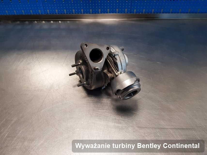 Turbina do osobówki producenta Bentley Continental po naprawie w firmie gdzie zleca się usługę Wyważanie turbiny