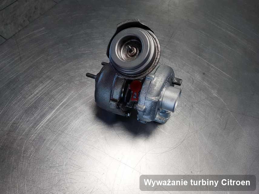 Turbosprężarka do samochodu spod znaku Citroen zregenerowana w warsztacie gdzie wykonuje się usługę Wyważanie turbiny