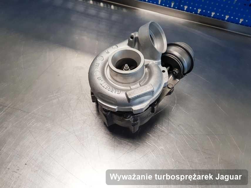 Turbosprężarka do auta producenta Jaguar wyremontowana w warsztacie gdzie wykonuje się usługę Wyważanie turbosprężarek
