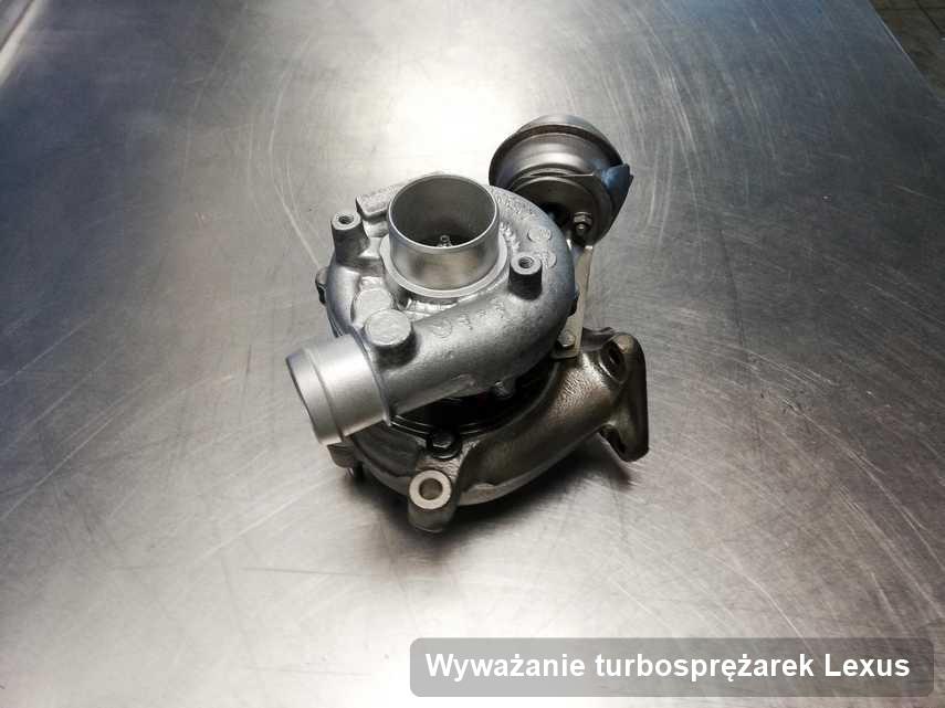Turbosprężarka do diesla producenta Lexus wyremontowana w przedsiębiorstwie gdzie wykonuje się usługę Wyważanie turbosprężarek