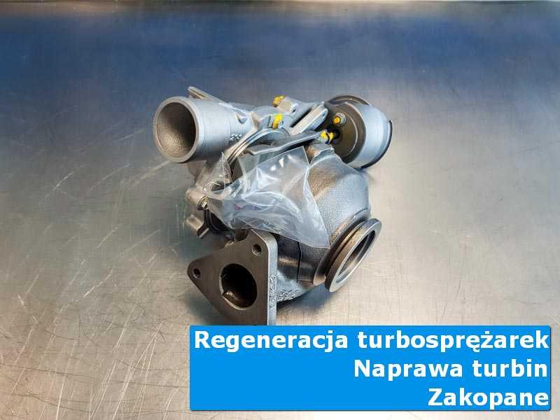Turbosprężarka po demontażu w pracowni w Zakopanym