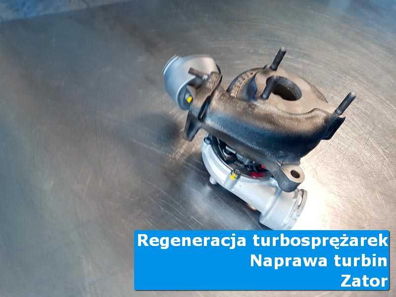 Układ turbodoładowania przed demontażem w profesjonalnym serwisie w Zatorze