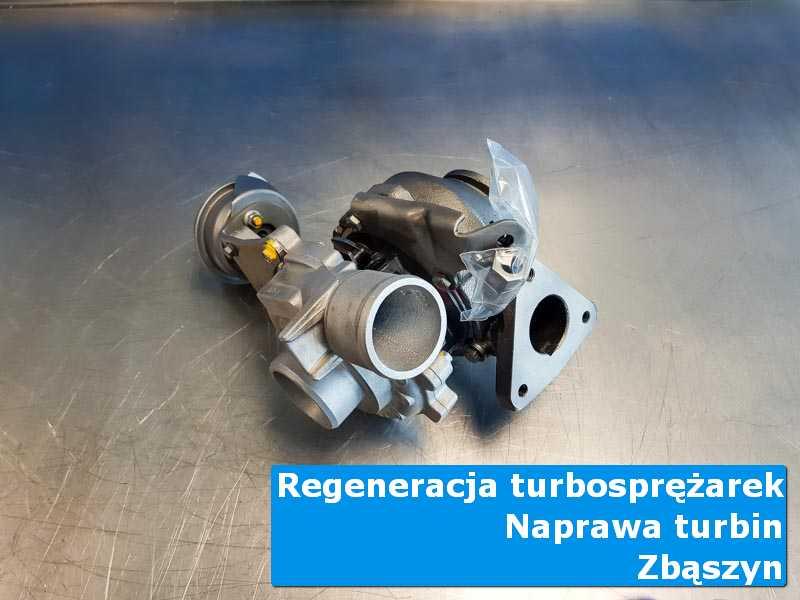 Turbosprężarka przed demontażem w laboratorium w Zbąszyniu