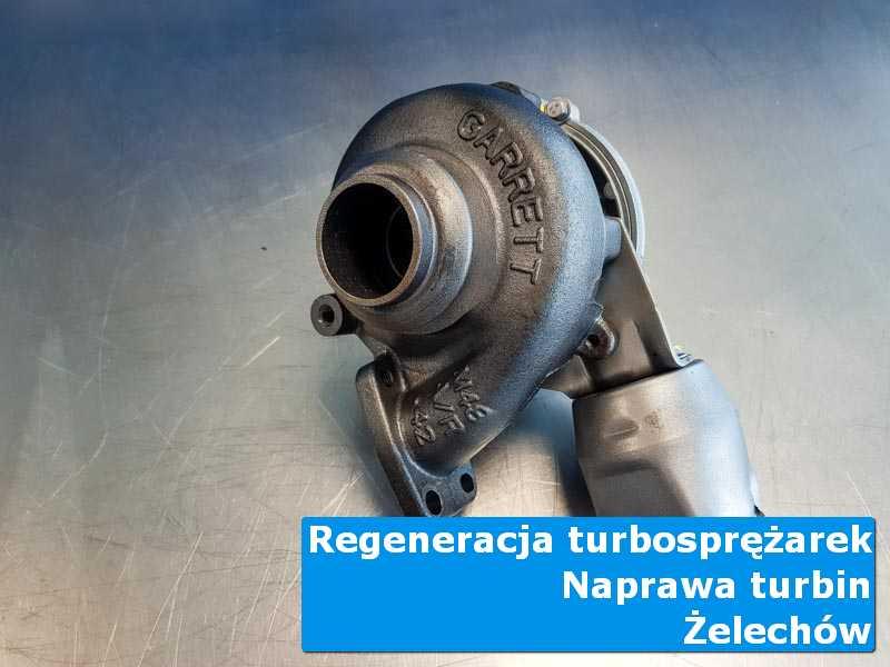 Turbosprężarka po demontażu w nowoczesnej pracowni z Żelechowa