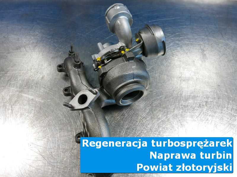 Turbosprężarka po czyszczeniu w autoryzowanym serwisie, powiat złotoryjski