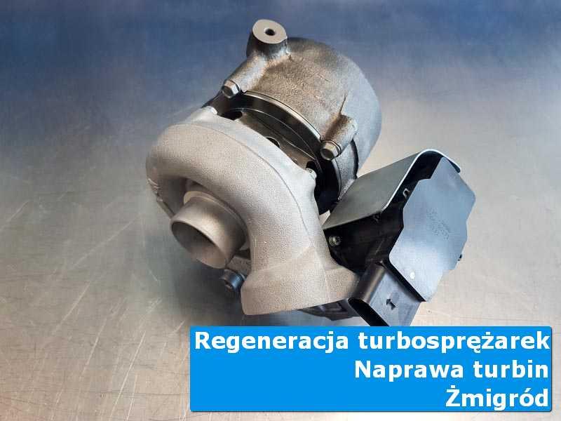 Turbosprężarka przed oddaniem do klienta na stole w laboratorium w Żmigrodzie