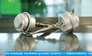 Ile kosztuje wymiana gruszki turbiny? | Odpowiadamy na pytanie